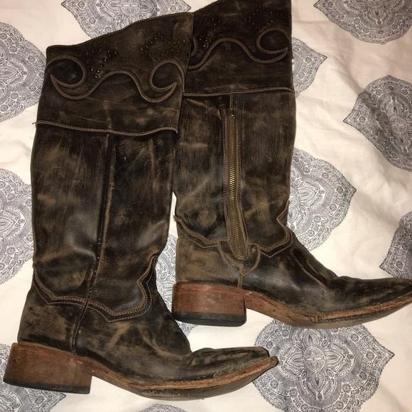 d118e27fcd6 Beautiful dan post knee high western boot